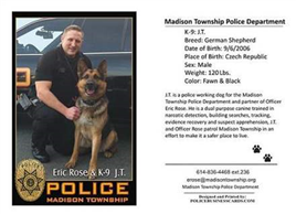 K-9 Fundraiser for JT